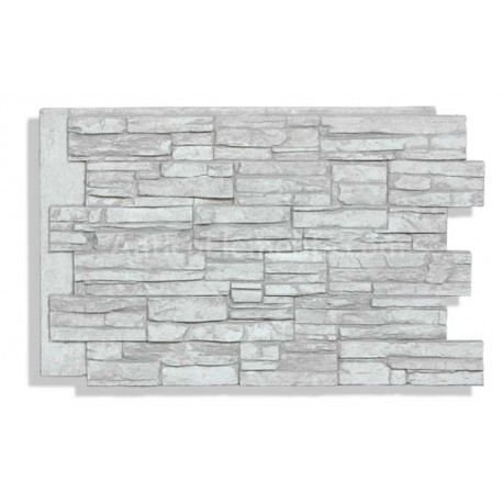 "Laguna 24"" x 36"" Faux Stacked Stone - Glacier - Front"