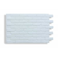 Faux Contempo Brick - White