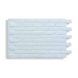 Faux Contempo Brick - White - Front