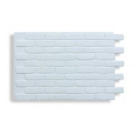 Faux Contempo Brick - White - Front