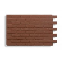 Faux Contempo Brick - Red