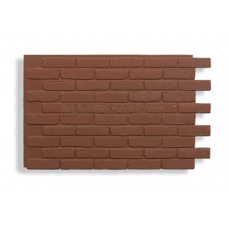 Faux Contempo Brick - Red - Front