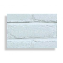 Faux Contempo Brick Sample - White - With Rebate