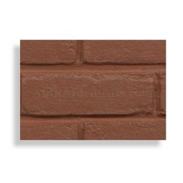 Faux Contempo Brick Sample - Red