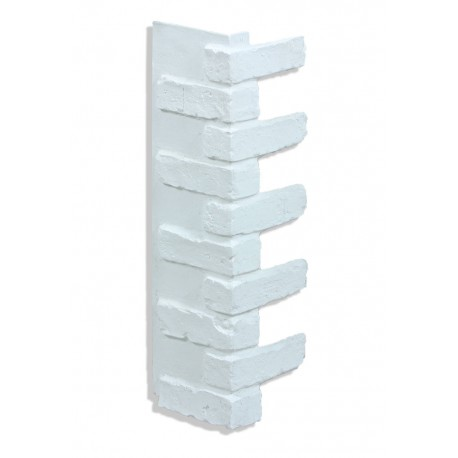 "Corner for 28"" Brick Panels - White"