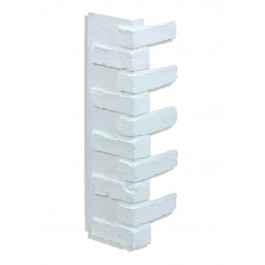 "Corner for 28"" Brick Panels - White"