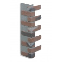 "Corner for 28"" Brick Panels - Chicago Red - CHOOSE A GROUT COLOR"