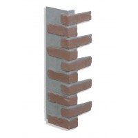 "Corner for 28"" Brick Panels - Red - CHOOSE A GROUT COLOR"