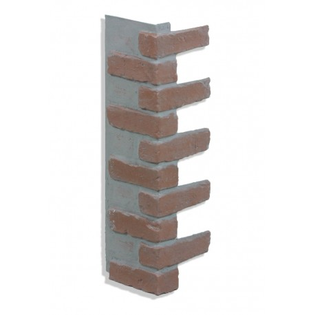 "Corner for 28"" Brick Panels - Red - Light Grout"