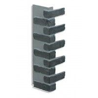"Corner for 28"" Brick Panels - Charcoal"