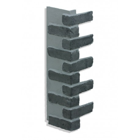 "Corner for 28"" Brick Panels - Charcoal"