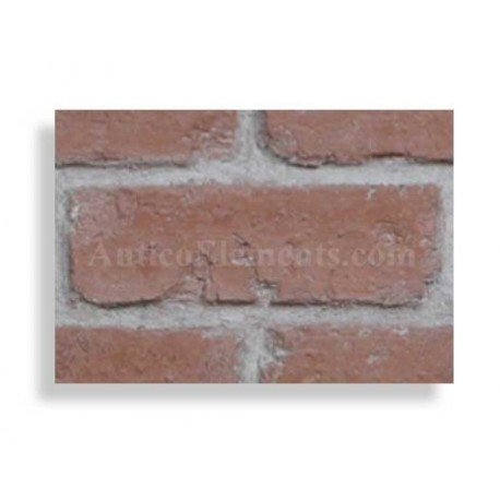 "Faux Reclaimed 28"" Panel Brick Sample - Red  - Light Grout"