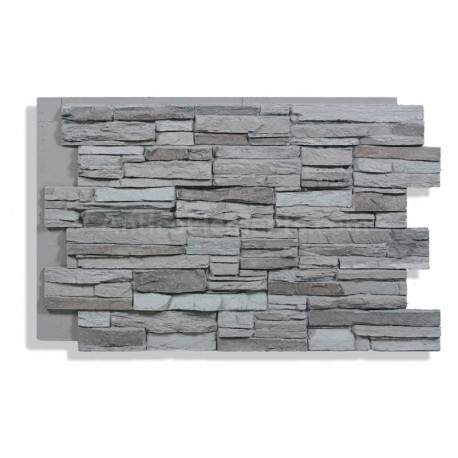"Laguna 24"" x 36"" Faux Stacked Stone - Storm"