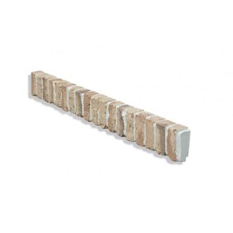 "Ledge Trim For 28"" Brick Panels - Tan - Dark - Side"