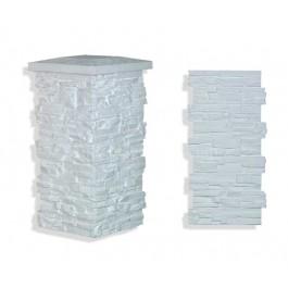 """Laguna Stone Column 19 x 36"""" White"""