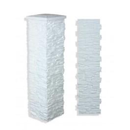 """Laguna Stone Column 19 x 72"""" White"""
