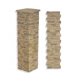 "Laguna Imitation Stone Column Wrap 19 x 72"" Desert"