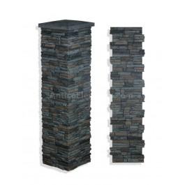 """Laguna Stone Column 19 x 72"""" Graphite"""