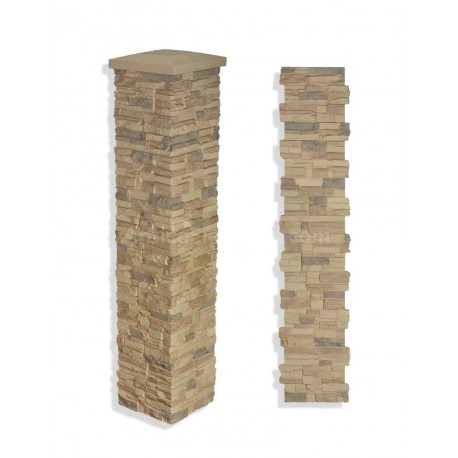"Laguna Stone Column 15 x 72"" Desert"