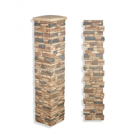 "Laguna Stone Column 15 x 72"" Mocha"