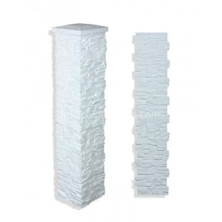 """Laguna Stone Column 15 x 72"""" White"""