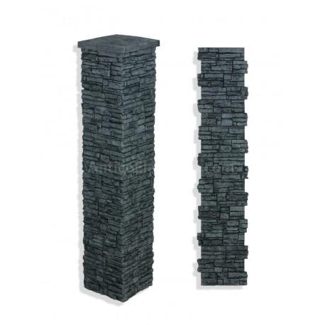 "Laguna Stone Column 15 x 72"" Charcoal"