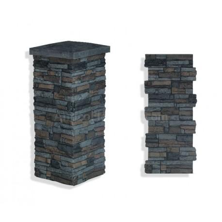 """Laguna Stone Column 15 x 36"""" Graphite"""