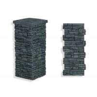 "Laguna Stone Column 15 x 36"" Charcoal"
