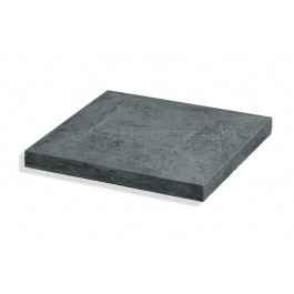 "Closed Stone Cap For 15"" Posts Charcoal - Back"