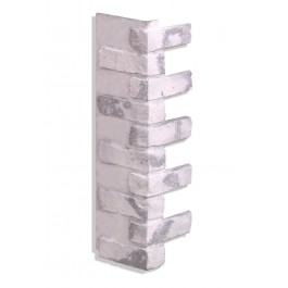"Corner for 28"" Brick Panels - Gray-Whitewash"