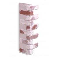 "Corner for 28"" Brick Panels - Red-Whitewash"