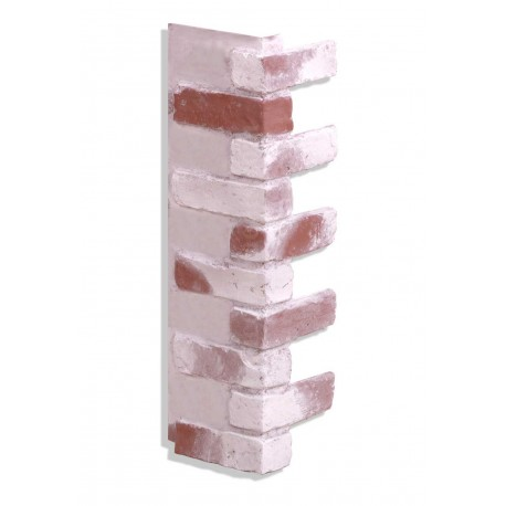 "Corner for 28"" Brick Panels - Red-Whitewash"