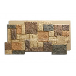 Castello Panel - Stone Siding - Sand