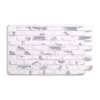 "Faux Reclaimed Brick 28"" -  Gray-Whitewash"