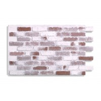 "Antico Faux Reclaimed Brick 28"" - Red-Whitewash"