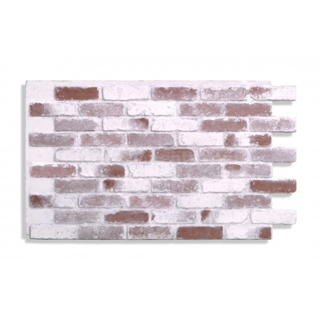 """Antico Faux Reclaimed Brick 28"""" - Red-Whitewash"""