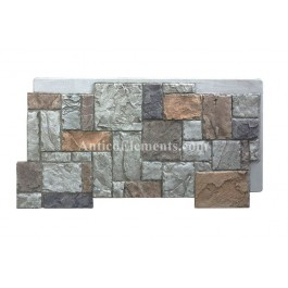 Castello Panel - Castle Stone Fireplace - Gray