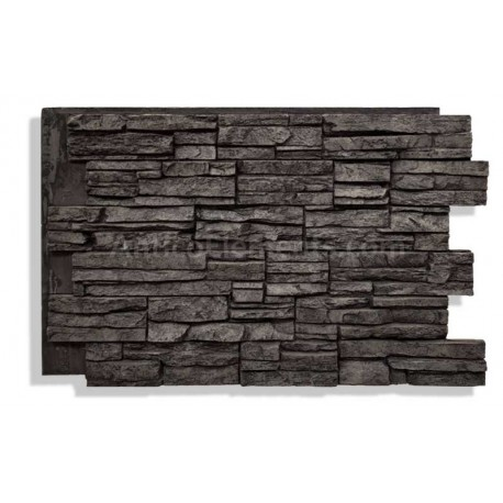 Laguna Faux Stacked Stone - Charcoal