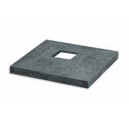 "Open Cap For 15"" Columns - 4in - Whole - Charcoal"