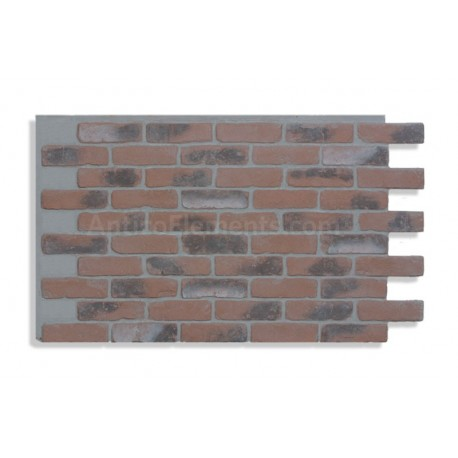 """Faux Reclaimed Brick 28"""" - Chicago Red Front LG- READ NOTES BELOW"""