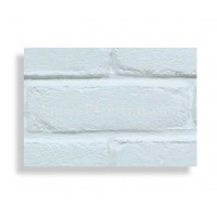 Faux Contempo Brick Sample - White - With Rebate - Free US Standard Shipping
