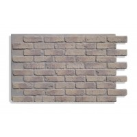 """Faux Reclaimed Brick 28"""" - Ashes"""
