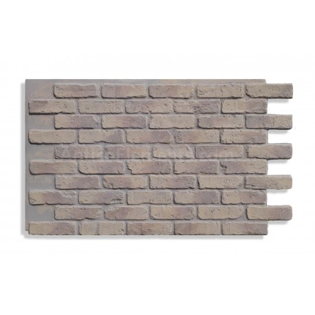 """Faux Reclaimed Brick 28"""" - Ashes - Front"""