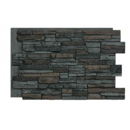 """Laguna 24"""" x 36"""" Faux Stacked Stone - Graphite - Front"""