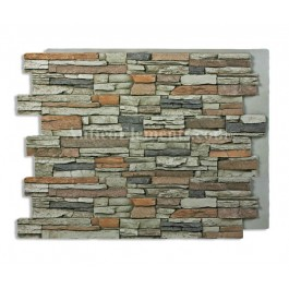 Alpi Panel - Stone Wall - Gray - 36 x 48