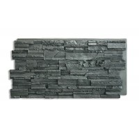 Romana Stacked Stone Panel Charcoal