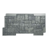 Castello Panel Faux Stone Siding Charcoal