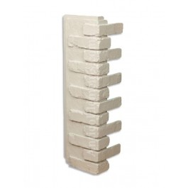 Antico Faux Brick Veneer Corner - White