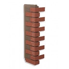 Villa Faux Brick Corner - Red