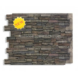 Alpi Panel Stone Wall Coffee 36 x 48